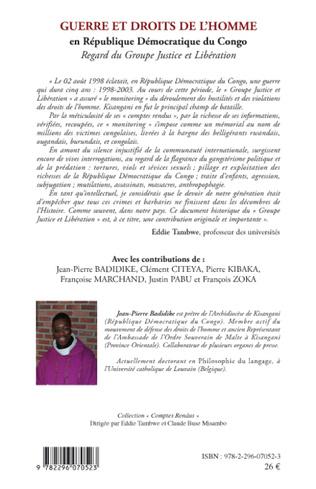 4eme Guerre et droits de l'homme en République Démocratique du Congo