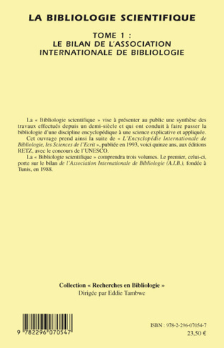 4eme La bibliologie scientifique