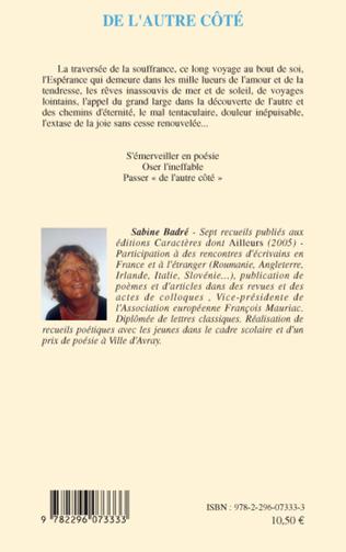 De Lautre Côté Poèmes Sabine Badre Livre Ebook Epub