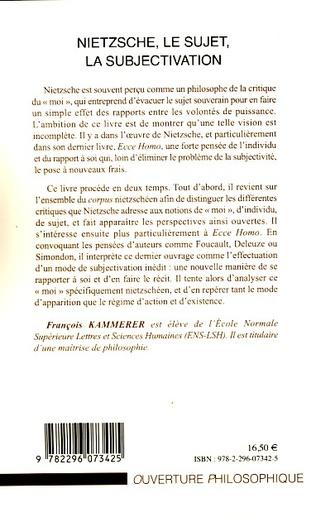 4eme Nietzsche, le sujet, la subjectivation