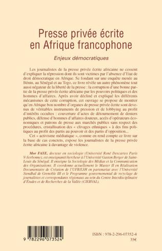 4eme Presse privée écrite en Afrique francophone