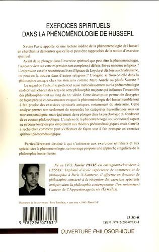 4eme Exercices spirituels dans la phénoménologie de Husserl