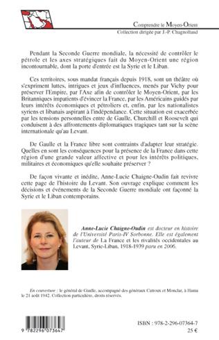 4eme La France dans les jeux d'influences en Syrie et au Liban