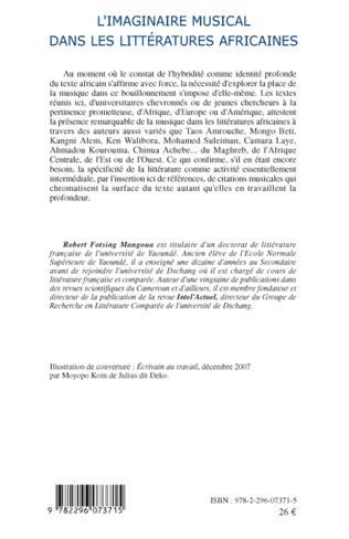 4eme L'imaginaire musical dans les littératures africaines