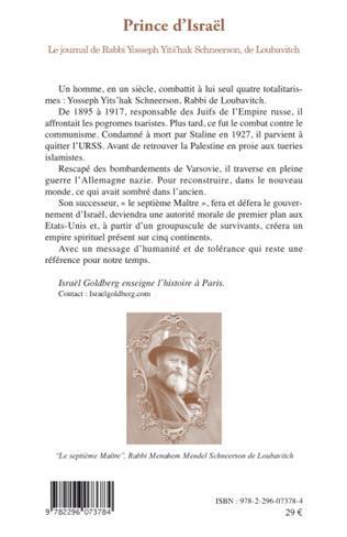 4eme Prince d'Israël : le journal de Rabbi Yosseph Yits'hak Schneerson de Loubavitch