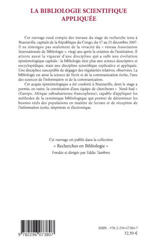 4eme La bibliologie scientifique appliquée