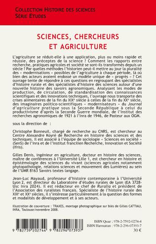 4eme Sciences, chercheurs et agriculture