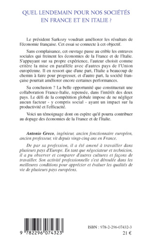 4eme Quel lendemain pour nos sociétés en France et en Italie ?