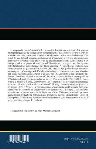 4eme Adverbes et évolution linguistique en latin