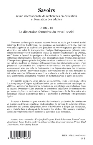 4eme La dimension formative du travail social