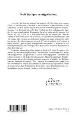 4eme Droit étatique en négociations