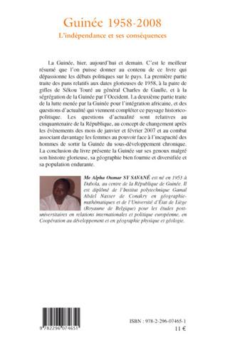4eme Guinée 1958-2008
