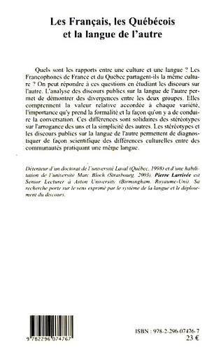 4eme Les Français, les Québécois et la langue de l'autre