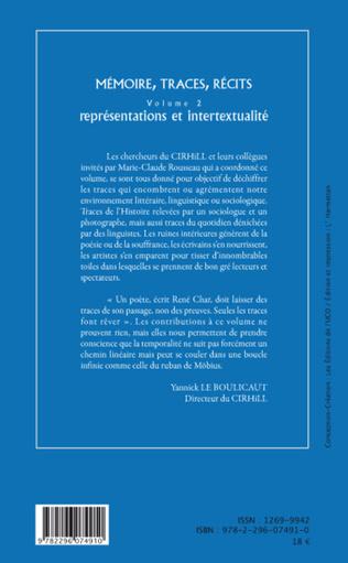 4eme Mémoire, traces, récits