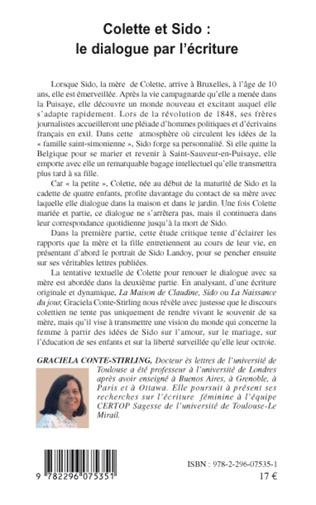 4eme Colette et Sido : le dialogue par l'écriture