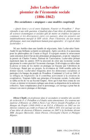 4eme Jules Lechevalier, pionnier de l'économie sociale