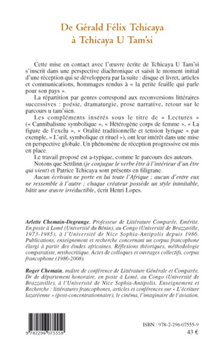 4eme De Gérald Félix Tchicaya à Tchicaya U Tam'si