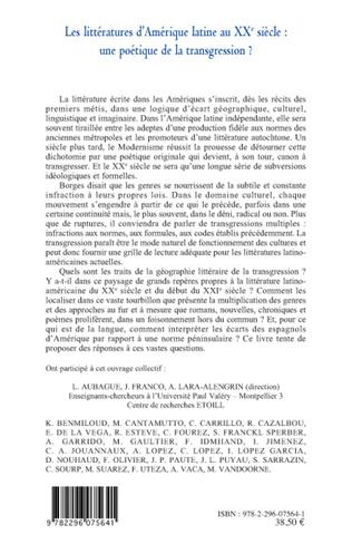 4eme Les littératures d'Amérique latine au XXe siècle :