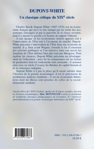 4eme Dupont-White, un classique critique au XIXe siècle