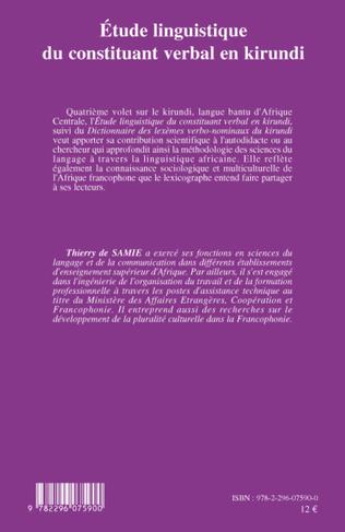 4eme Etude linguistique du constituant verbal en kirundi