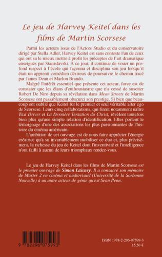 4eme Le jeu de Harvey Keitel dans les films de Martin Scorsese