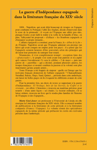 4eme La guerre d'Indépendance espagnole dans la littérature française au XIX° siècle