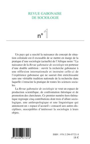 4eme Revue gabonaise de sociologie