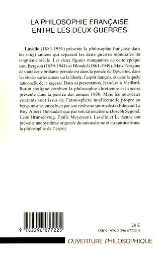 4eme La philosophie française entre les deux guerres