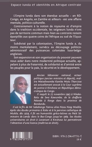 4eme Espace Lunda et identités en Afrique centrale