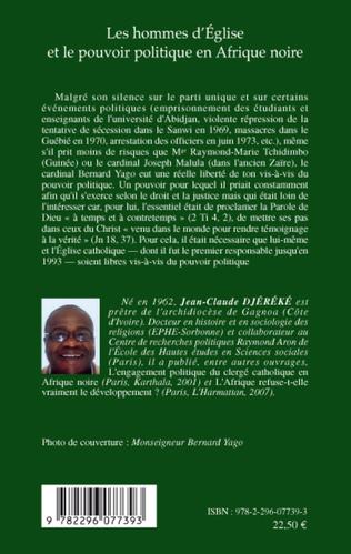 4eme Les hommes d'Eglise et le pouvoir politique en Afrique noire
