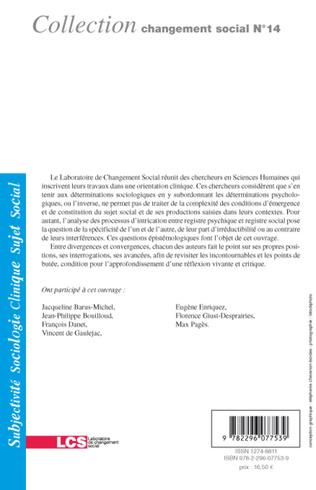 4eme Entre social et psychique : questions épistémologiques