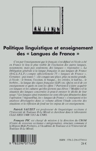 4eme Politique linguistique et enseignement des