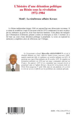4eme L'histoire d'une détention politique au Bénin sous la révolution 1972-1984