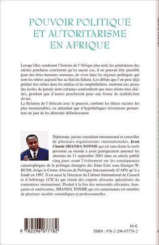 4eme Pouvoir politique et autoritarisme en Afrique