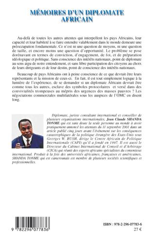 4eme Mémoires d'un diplomate africain