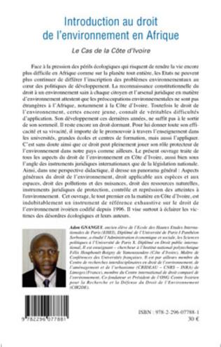 4eme Introduction au droit de l'environnement en Afrique