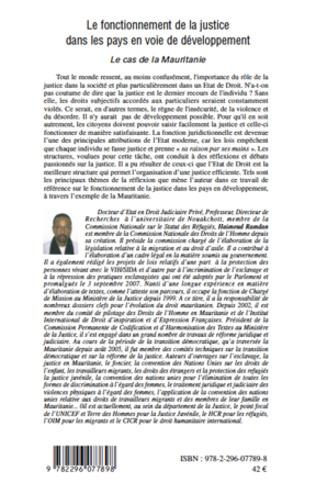 4eme Le fonctionnement de la justice dans les pays en voie de développement