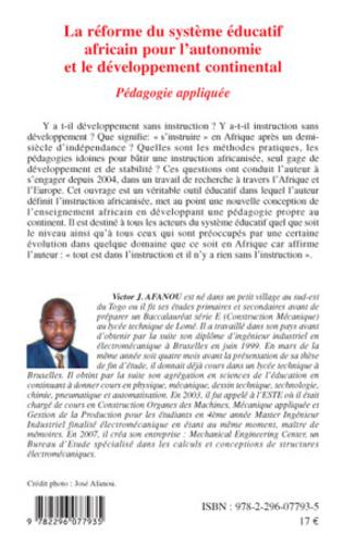 4eme La réforme du système éducatif africain pour l'autonomie et le développement continental