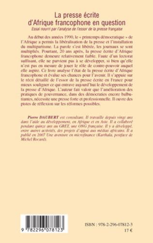 4eme La presse écrite d'Afrique francophone en question