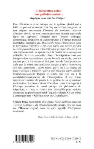 4eme L'intégration alibi : une guillotine sociale...