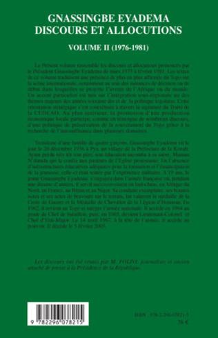4eme Gnassingbe Eyadema (volume II)