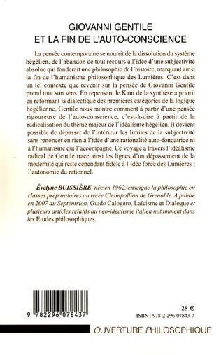 4eme Giovanni Gentile et la fin de l'auto-conscience