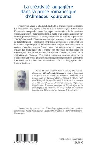 4eme La créativité langagière dans la prose romanesque d'Ahmadou Kourouma