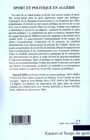 4eme Sport et politique en Algérie