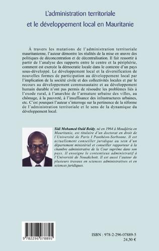 4eme L'administration territoriale et le développement local en Mauritanie