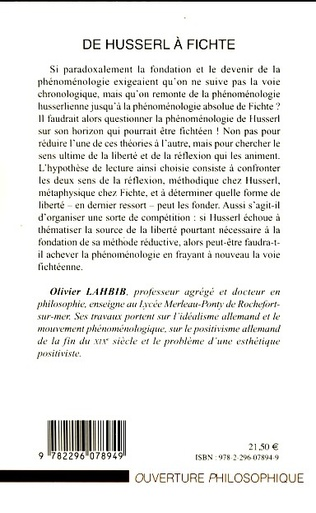 4eme De Husserl à Fichte