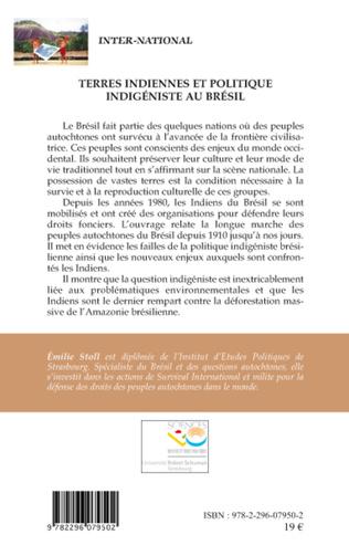 4eme Terres indiennes et politique indigéniste au Brésil