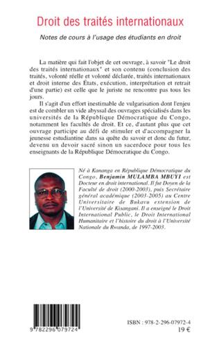 4eme Droit des traités internationaux