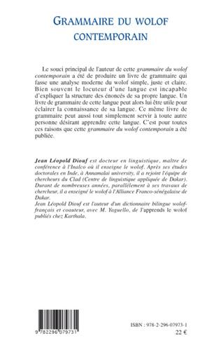 4eme Grammaire du wolof contemporain