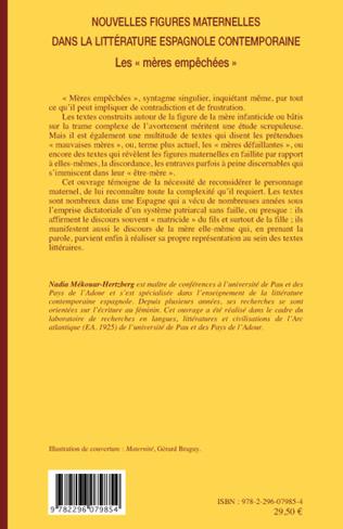 4eme Nouvelles figures maternelles dans la littérature espagnole contemporaine